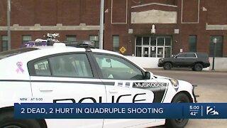 2 dead. 2 hurt in quadruple shooting