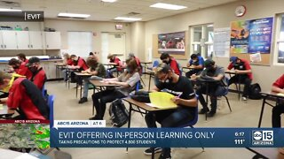 EVIT offering in-person learning only