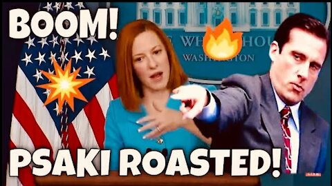 """BOOM! Jen Psaki ROASTED! by FOX Reporter Peter Doocy - """"So Total Coincidence"""" Ransomware Attacks Up?"""