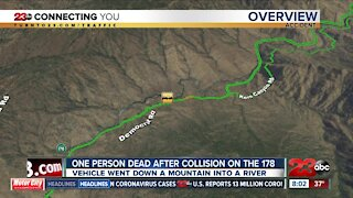 One person dead after collision on the 178