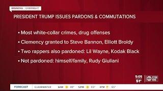 President Trump pardons 73 people including ex-strategist Steve Bannon