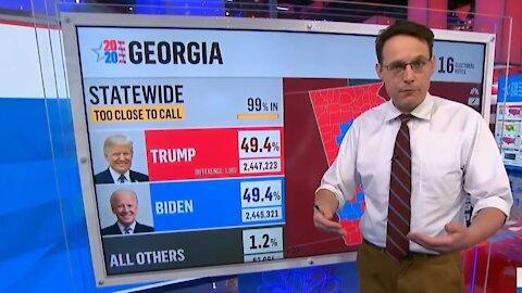 Trump Lost By 42,918 Votes (MSNBC's Steve Kornacki)