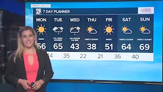 Mostly sunny, breezy and warm