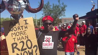 WRAP: Vavi threatens two-day strike should government not heed demands (gDx)