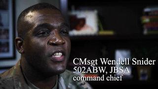 Chief Master Sgt. Wendell Snider talks Black History Month