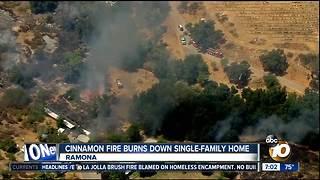 Cinnamon Fire burns down single-family home