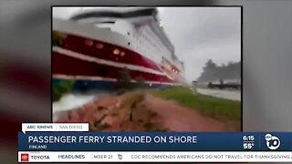 Passenger ferry runs aground near Finland