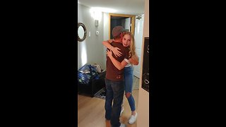 Dad Surprises Family For Thanksgiving