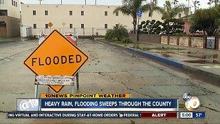 Heavy rain, flooding sweeps through the county