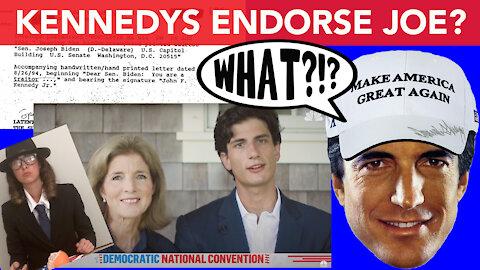 Vincent Fusca watches Kennedys Endorse Joe Biden