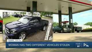 Woman has two different vehicles stolen