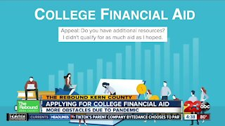 Rebound: Applying for financial aid during the pandemic
