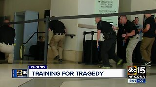 Active shooter training exercise in downtown Phoenix