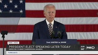 President elect Joe Biden Thanksgiving address