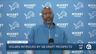 Lions GM Holmes intrigued by QB prospects in draft