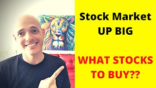 Stock Market UP BIG | WHAT STOCKS TO BUY??