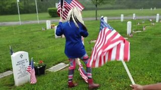 Military family places 500 flags to honor fallen heroes on Memorial Day