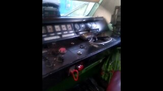 What does a locomotive / train look like inside / in the cockpit