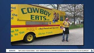 "Cowboy Eats says ""We're Open Baltimore!"""