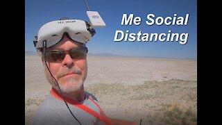 Social Distancing at the Great Salt Lake