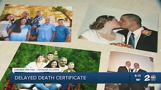 Grieving Bartlesville family experiences death certificate delay