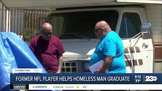 Former NFL player helps homeless man graduate