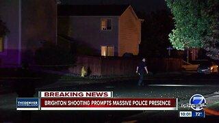Police swarm Brighton neighborhood after shooting