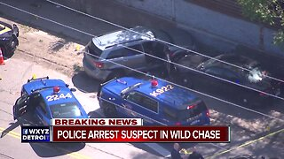 WATCH: Police arrest shooting suspect after wild chase in Detroit ends with shots fired