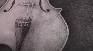 3 million dots - Violin Stippling Timelapse - Speed Drawing