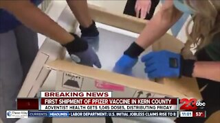 Kern County hospitals receive their first Covid vaccines