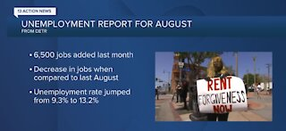 Nevada unemployment report for August 2020