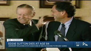 Legendary Oklahoma State Basketball coach Eddie Sutton dies at age 84