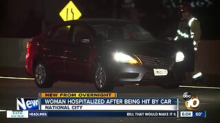 Woman struck by car on I-5 in National City