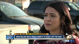 Unemployed mom rallies back from the streets