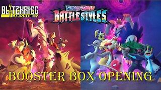 Pokemon Sword & Shield Battle Styles Booster Box Opening by Barbara