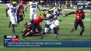 Michigan's Josh Gattis excited about Chris Evans' versatility