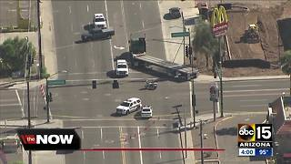 Pedestrian struck by a truck in Phoenix dies