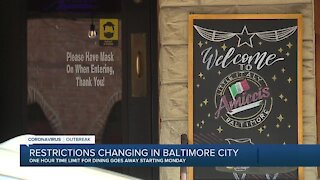 Restrictions changing in Baltimore City