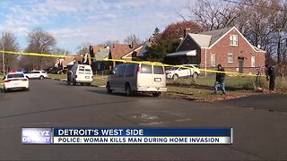 Police: woman kills man during home invasion in Detroit