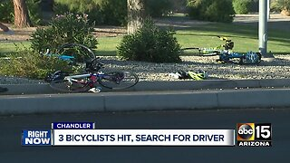 Chandler PD searching for hit-and-run driver who struck 3 bicyclists