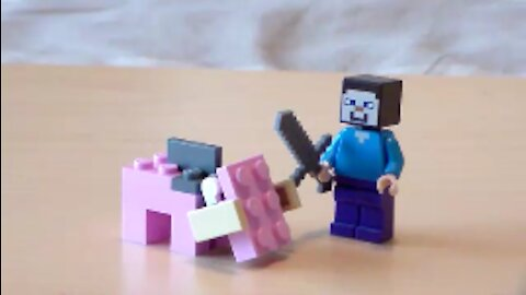 Lego Minecraft Hoglin Tutorial