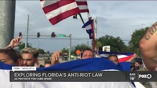 """Cuban protests potentially offer first test of Florida's """"anti-riot"""" law"""