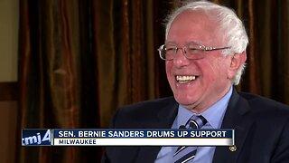 Sen. Bernie Sanders drums up support