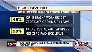 Paid sick leave bill stalls in Nebraska legislature