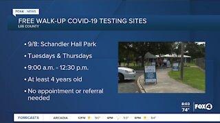 Walk up COVID-19 testing sites