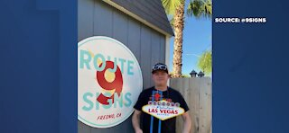 Route 9 Signs brings Fabulous Las Vegas sign back to life