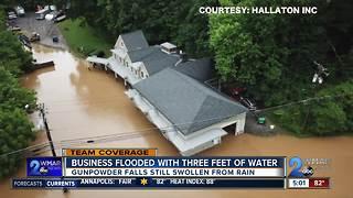Gunpowder Falls floods roads, business