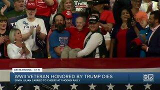 WWII veteran honored by Trump dies