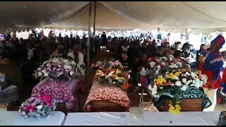 funeral service for three children who by their father (videos) (6be)