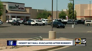 Evacuation lifted after armed robbery near Desert Sky Mall